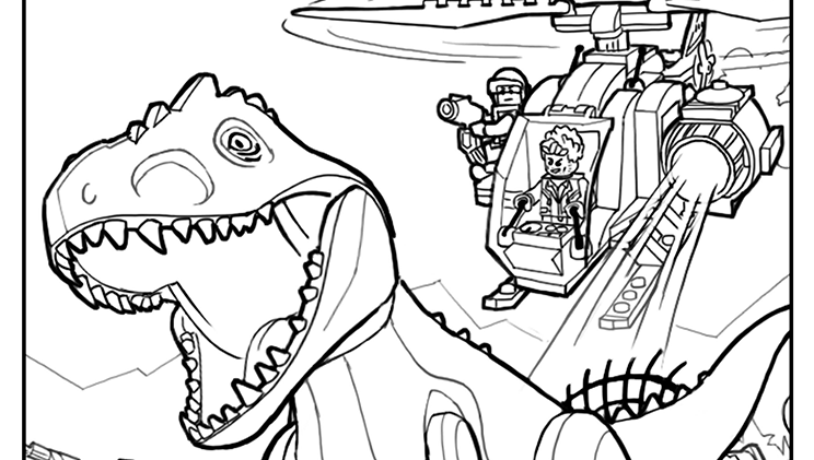744x421 Lego Jurassic Park Coloring Pages Homeschooling