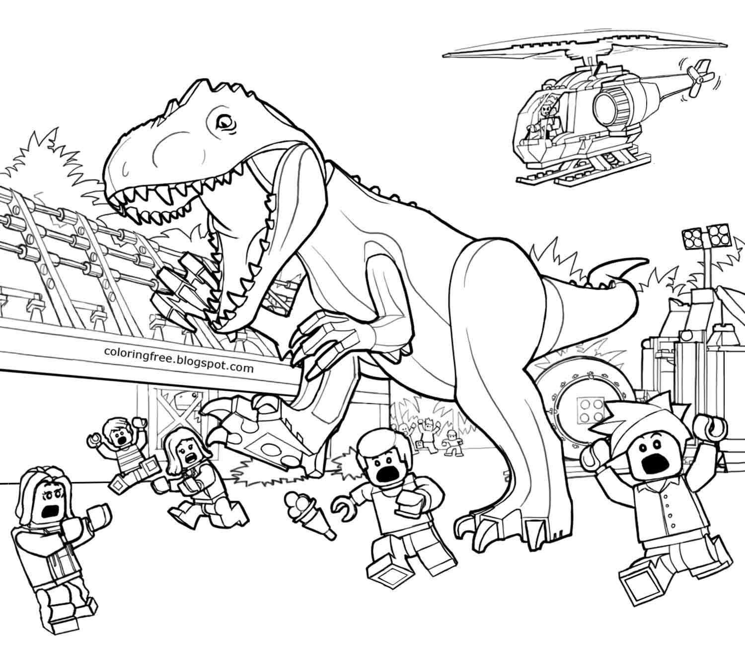 Jurassic Park Coloring Pages At Getdrawingscom Free For Personal