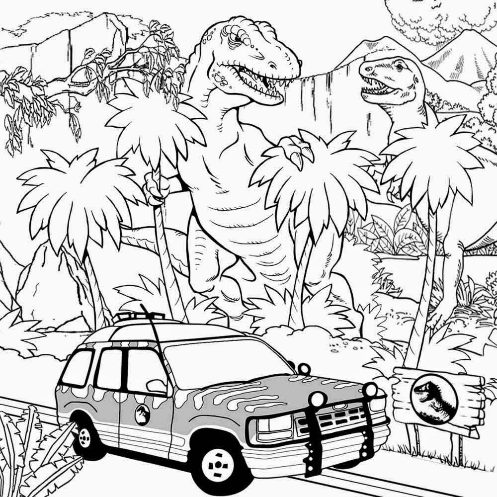 1000x1000 Awesome Dinosaur Coloring Sheets Jurassic Dinosaurs