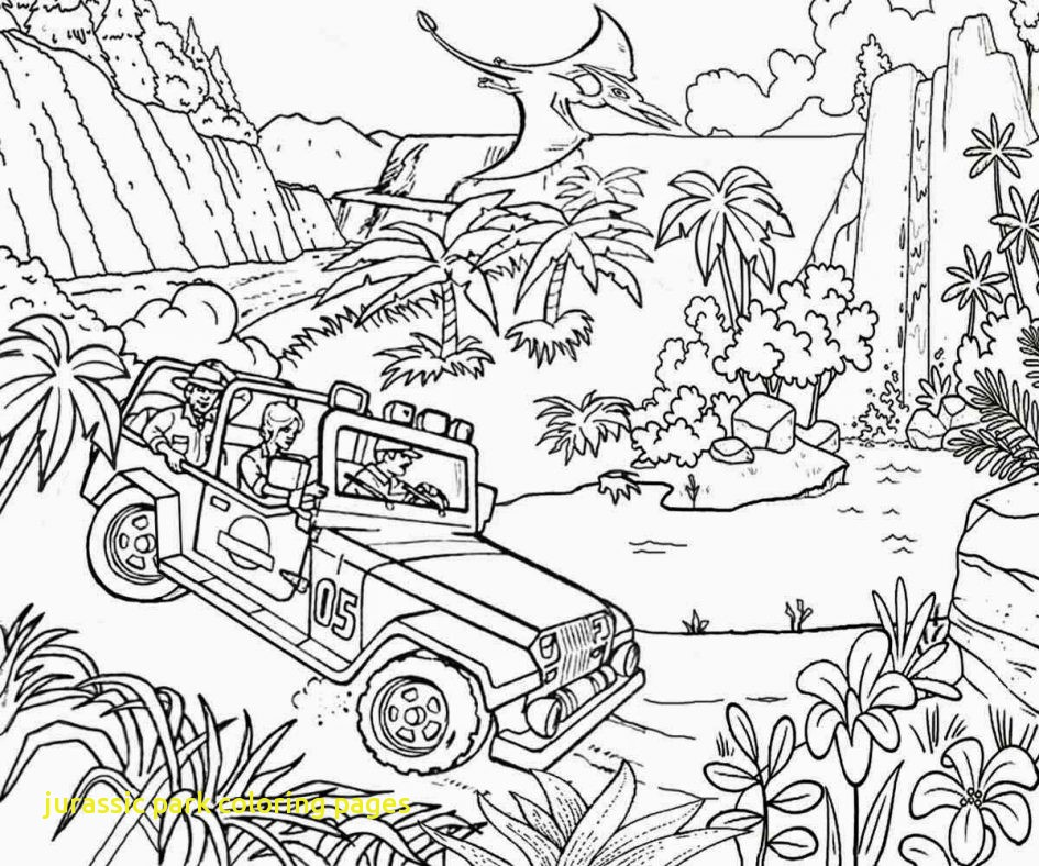 945x788 Jurassic Park Coloring Pages With Winsome Design Jurassic Park