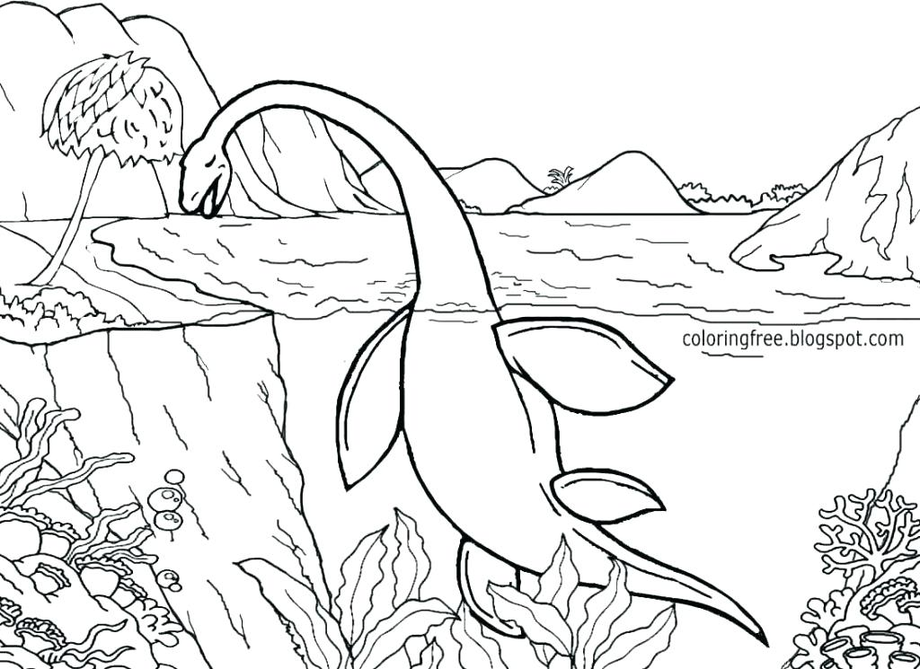 1024x745 Jurassic Park Coloring Page Park