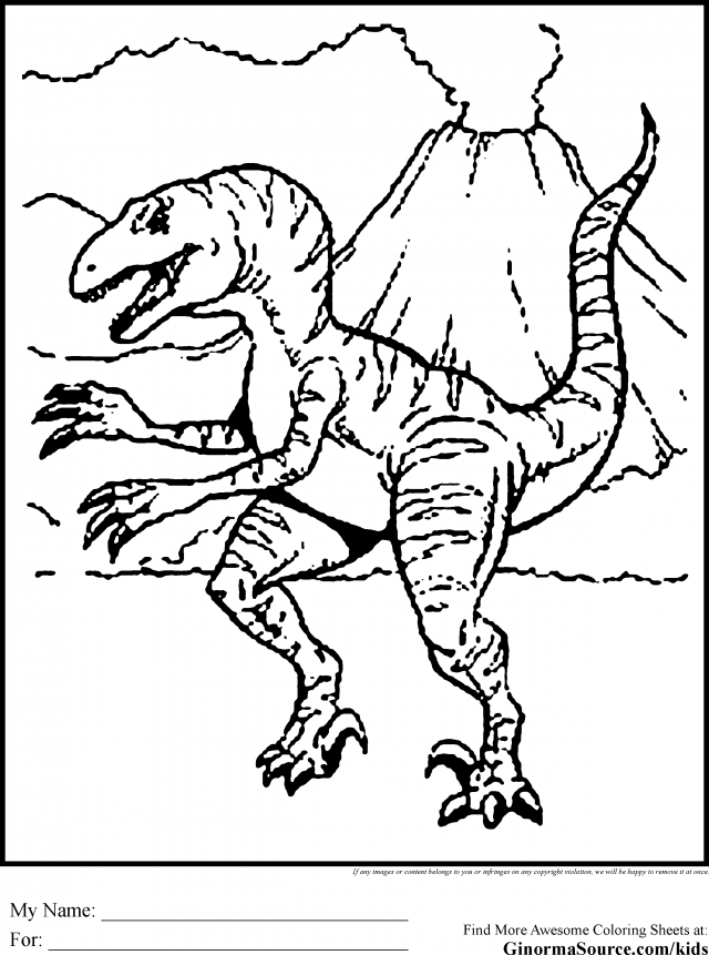 640x861 Jurassic Park Coloring Pages