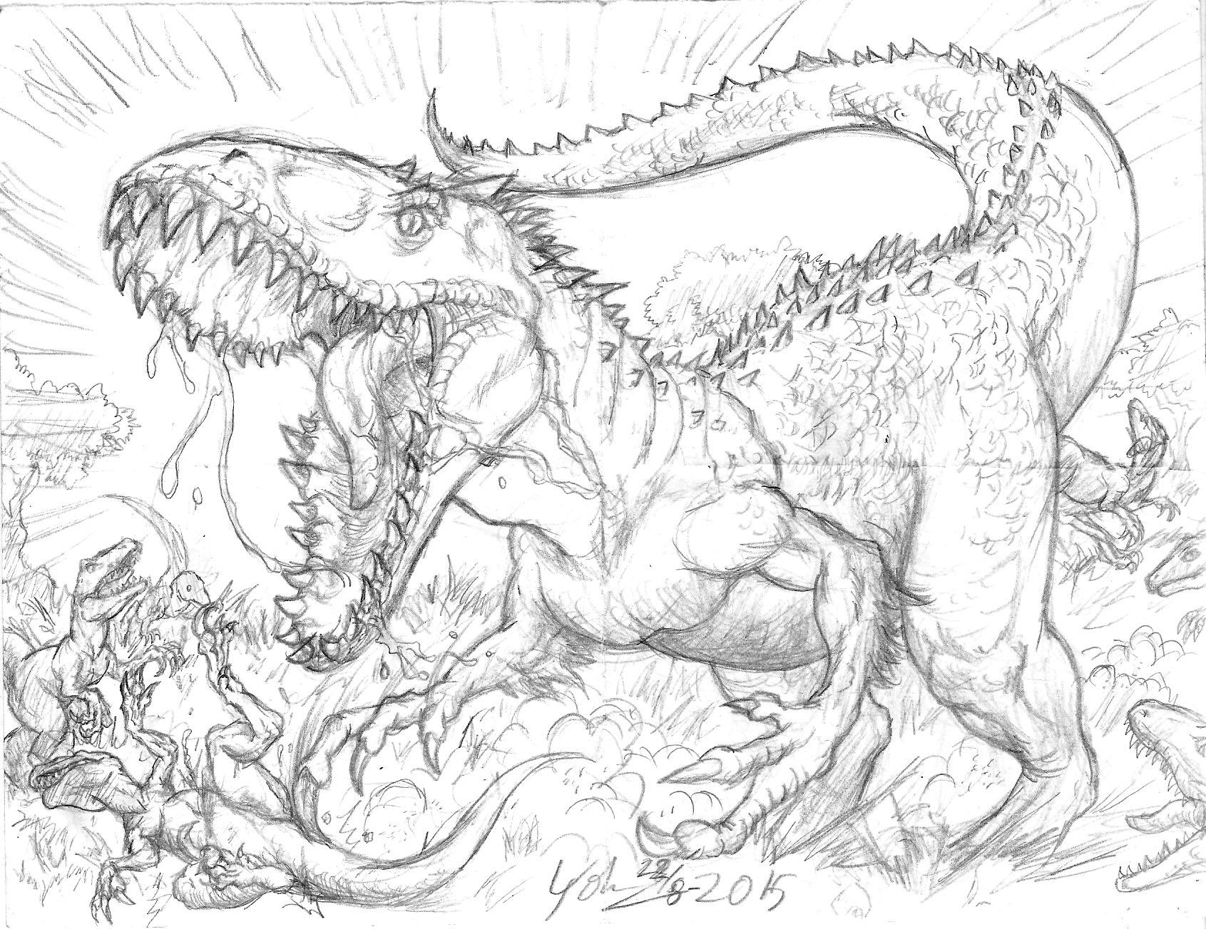 Imagenes De Jurassic World Indominus Rex Para Colorear ...