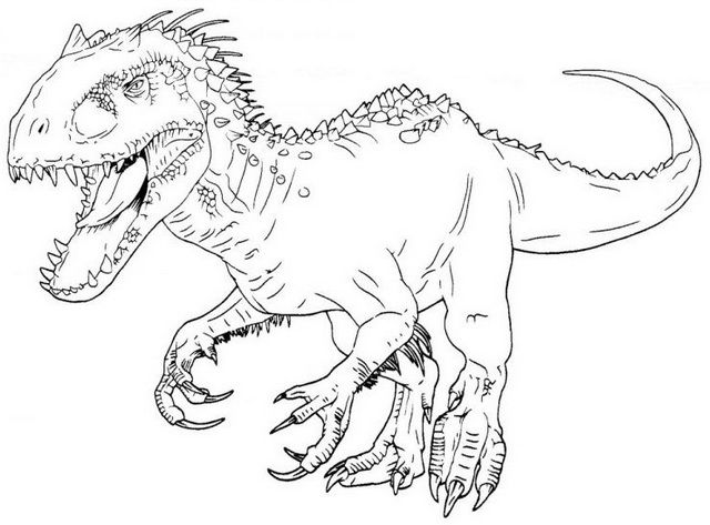 640x473 Best Indominus Rex Coloring Pages Images