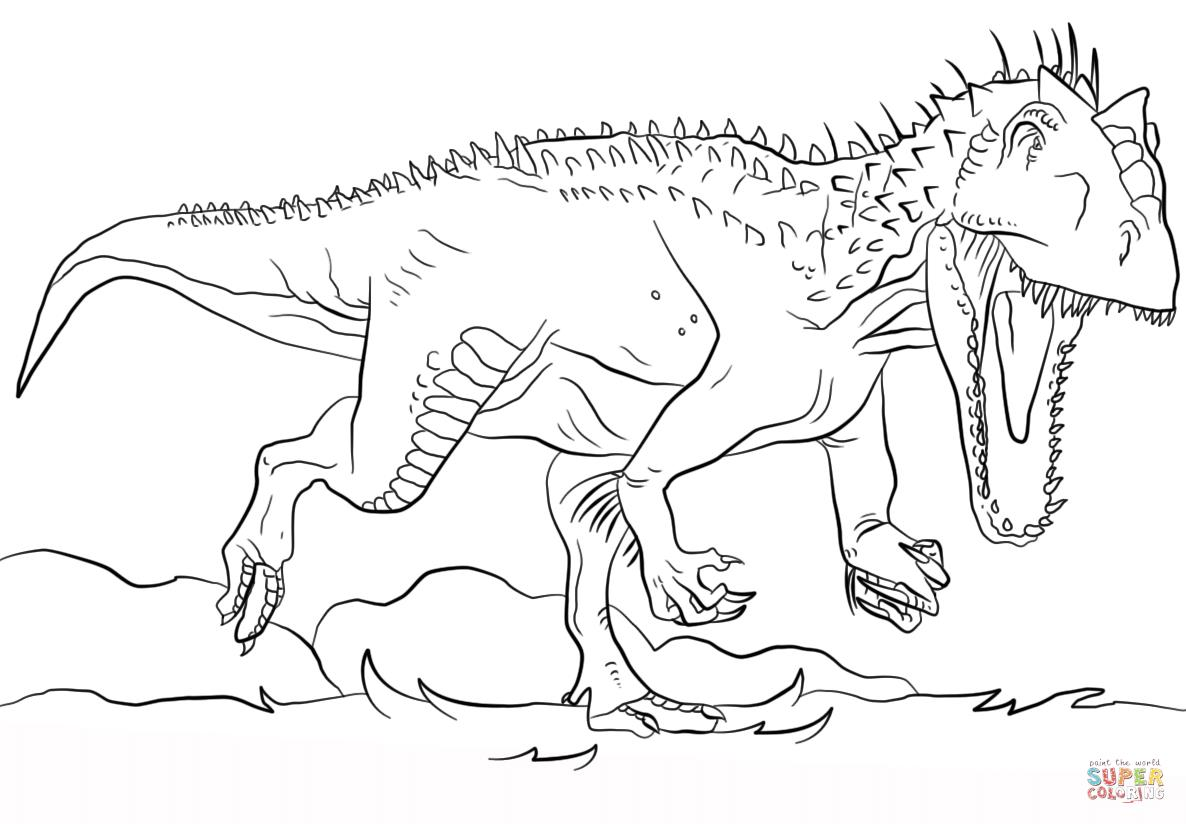 1186x824 World Indominus Rex Coloring Pages