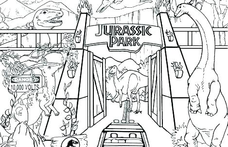 Jurassic World Dinosaur Coloring Pages At Getdrawings Com Free For