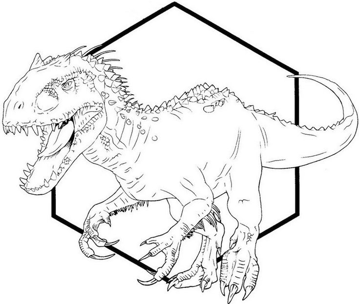 Jurassic World Indominus Rex Coloring Pages
