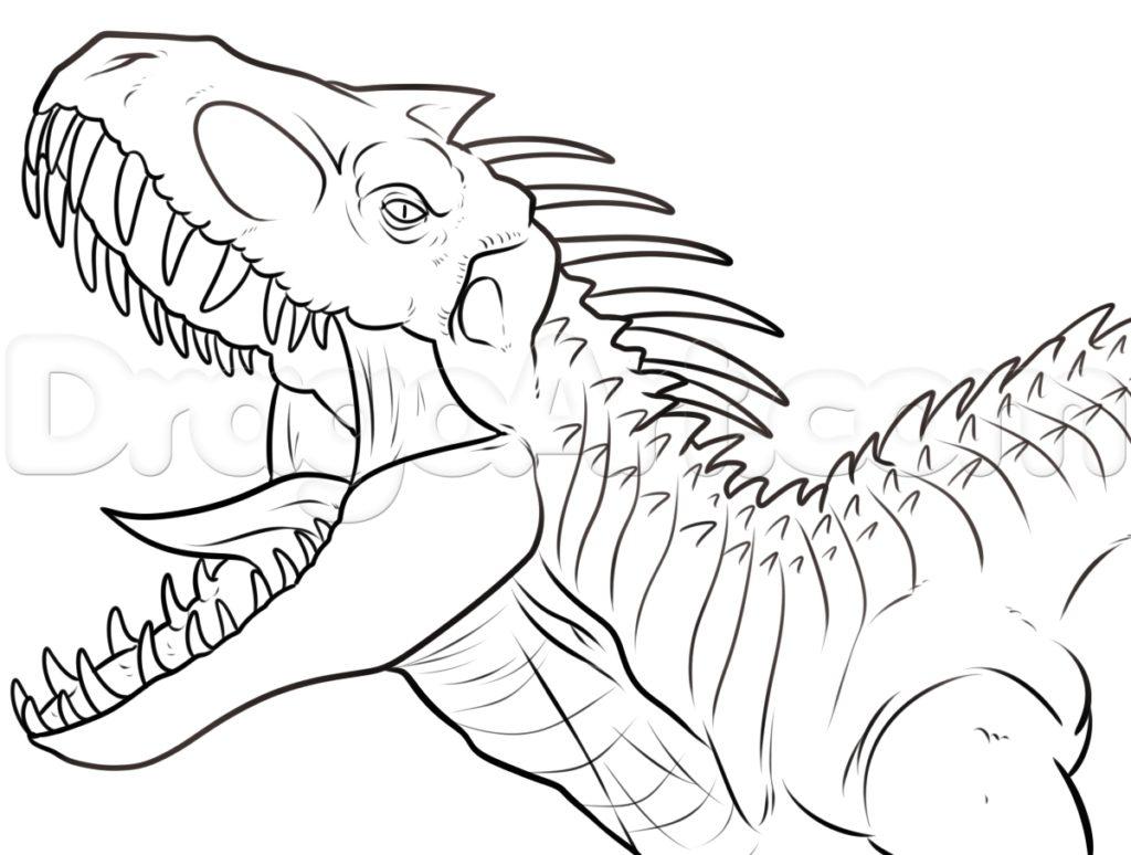 1024x774 Indominus Rex Coloring Page Get Bubbles