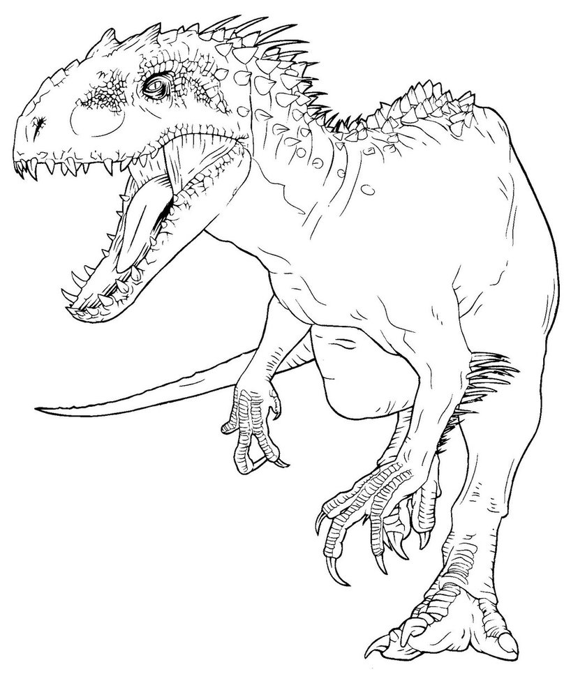 818x976 Indominus Rex Coloring Page Coloring Pages Jw Color Book