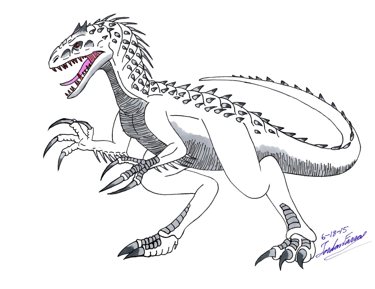 1280x986 Indominus Rex Coloring Pages