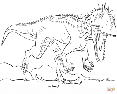 400x322 Indominus Rex Coloring Pages Page Image Clipart Images