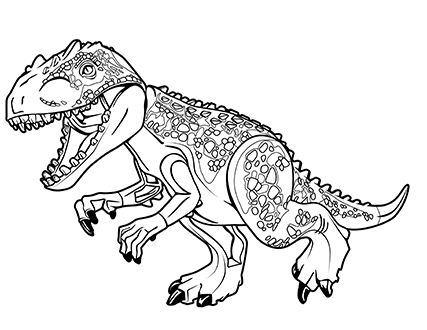 427x330 Jurassic World Indominus Rex Coloring Pages