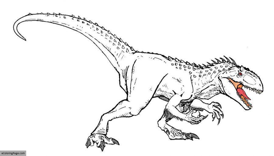 900x514 Jurassic World Indominus Rex Dinosaur Coloring Page