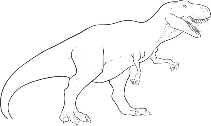 687x409 T Rex Coloring Page Coloring Page Medium Size Of Coloring To Draw