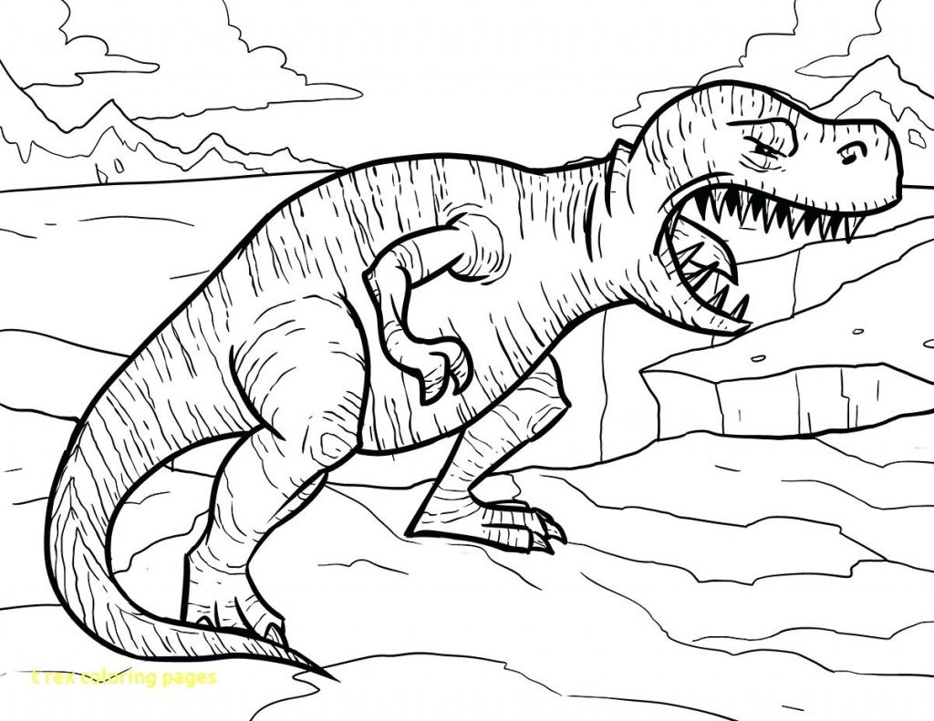 1024x791 Coloring Pages T Rex Coloring Page Pages With Tyrannosaurus