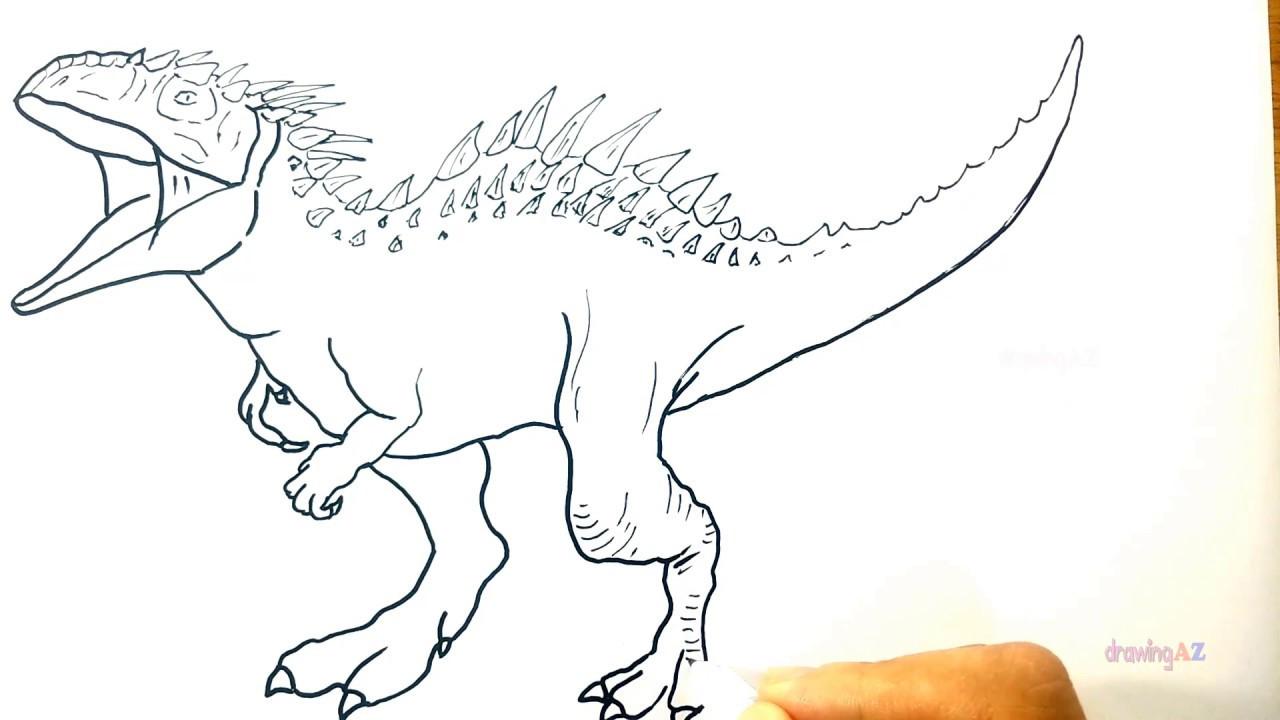 1280x720 Dinosaur Jurassic Park Indominus Rex Coloring Page Remarkable