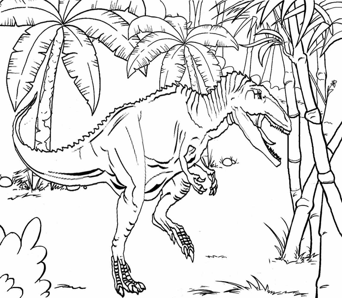 Jurassic World Raptor Coloring Pages