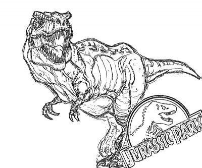 400x333 Printable Jurassic Park Coloring Page Dinosaurs
