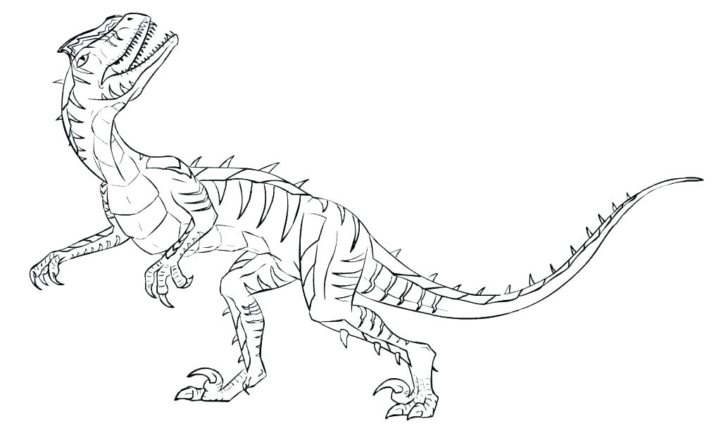 1024x612 Velociraptor Coloring Page Pages Dinosaur Good Dinosaurs Free