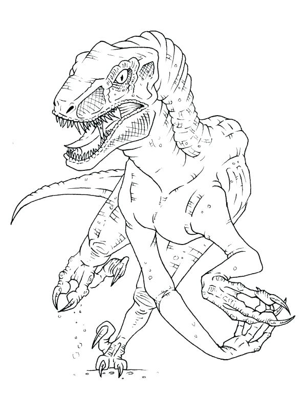 600x778 Velociraptor Coloring Sheets Kids Coloring Coloring Page Free