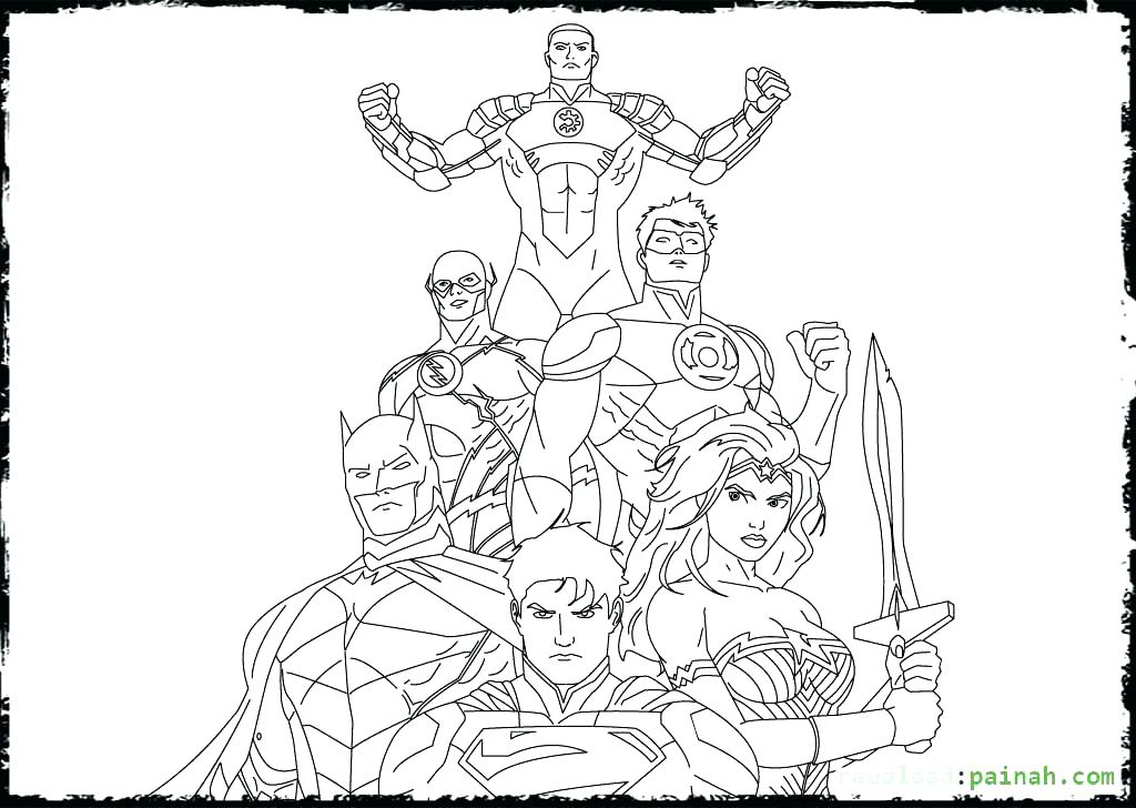 1024x728 Young Justice Coloring Pages Young Justice Coloring Pages Justice
