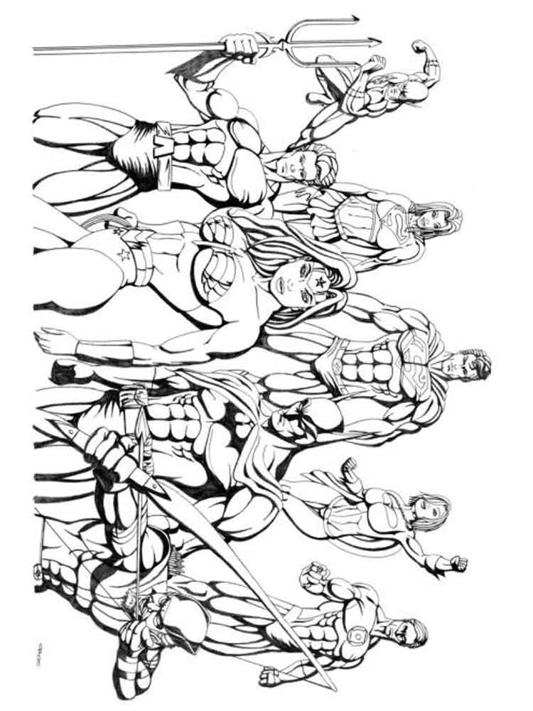 Justice League Coloring Pages Free Printable