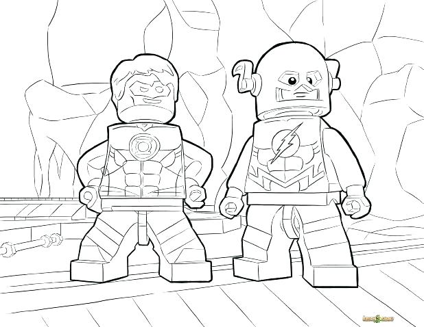 Justice League Coloring Pages Free Printable At