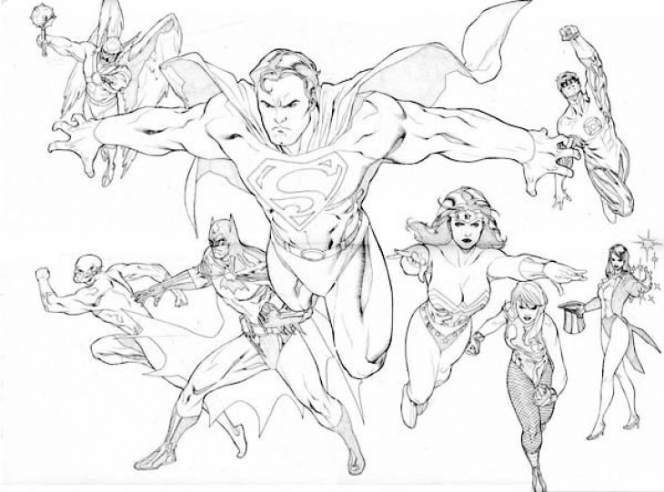Justice League Coloring Pages Free Printable at GetDrawings.com ...