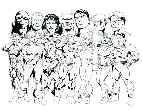 600x466 Justice League Coloring Page Origins Of The Justice League