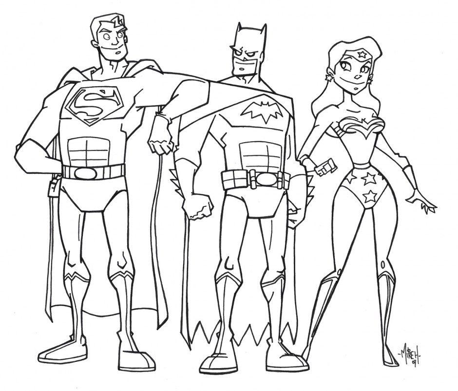 940x803 Justice League Coloring Pages