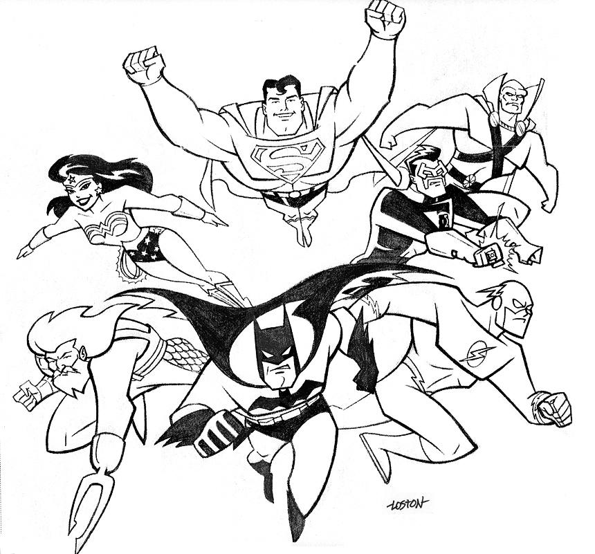 860x801 Justice League Coloring Pages