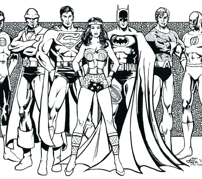 Justice League Coloring Pages To Print At Getdrawingscom Free For
