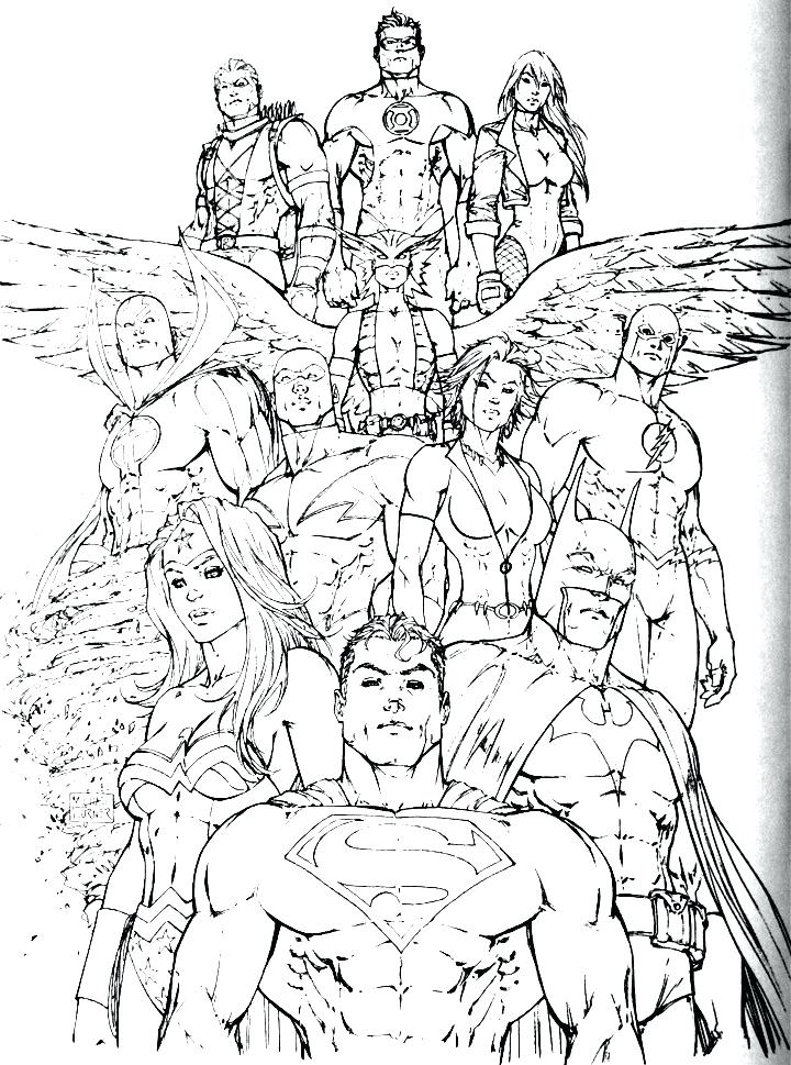 720x969 Justice League Coloring Pages To Print Alluring Justice League