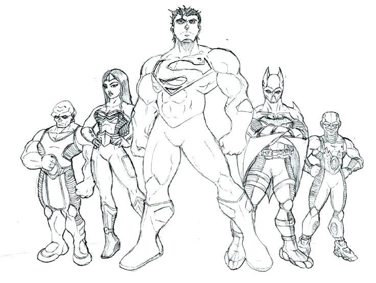 736x553 Justice League Coloring Pages To Print Avengers Vs Justice League