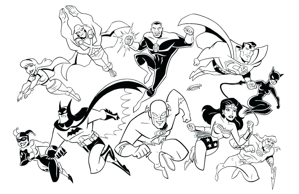 1024x664 Justice League Coloring Pages To Print Justice League Coloring