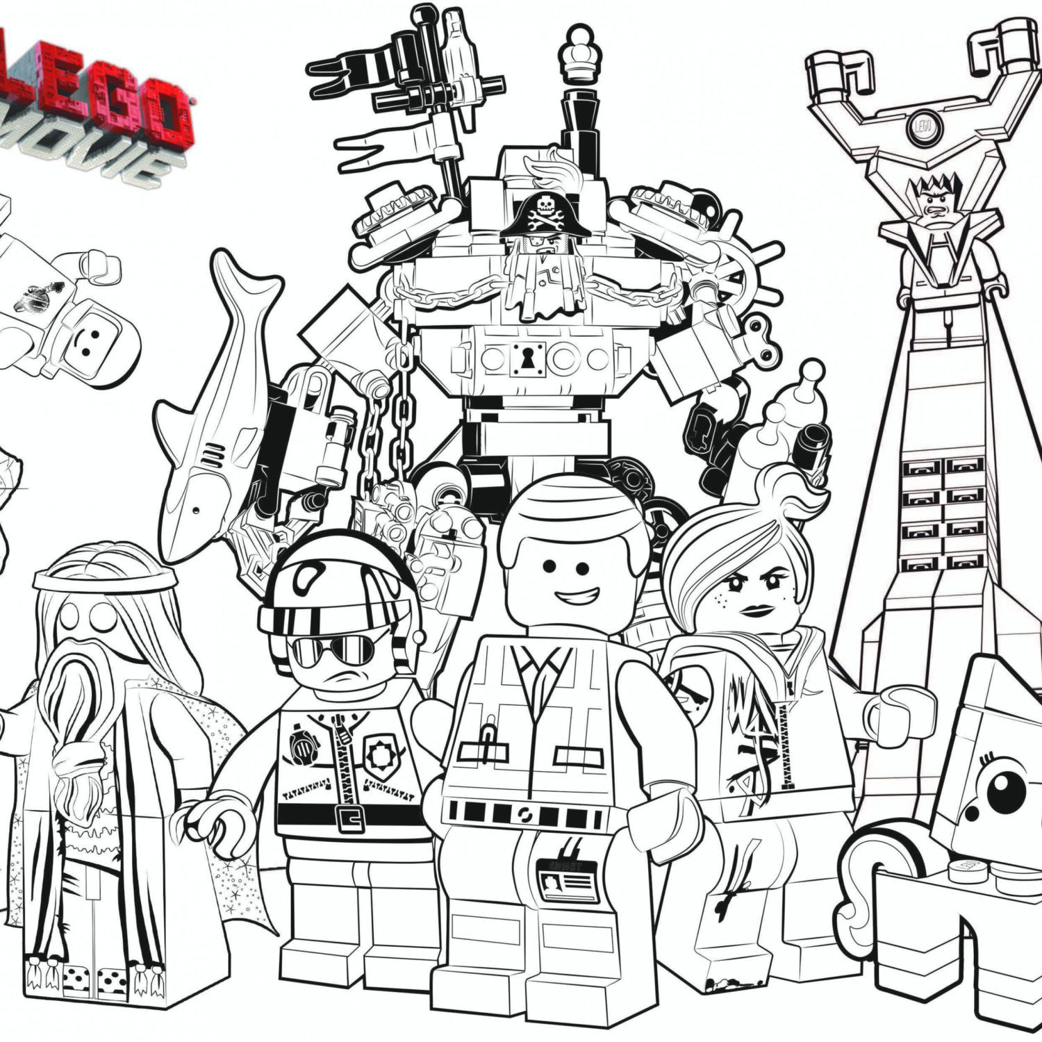 1500x1500 The Lego Movie Coloring Page Justice League Printable Inside