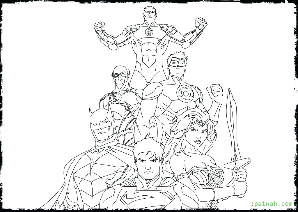1024x728 Young Justice Coloring Pages Young Justice League Coloring Pages