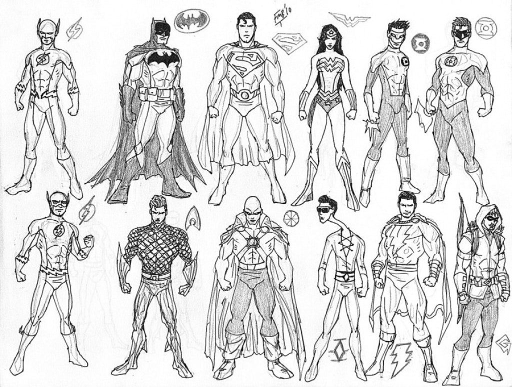 1024x775 Justice League Coloring Pages Misc Wallpaper Part Solid Surface