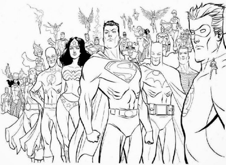 730x534 Free Printable Coloring Sheet Of Justice League America