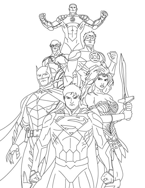 600x776 How To Draw Justice League Coloring Page