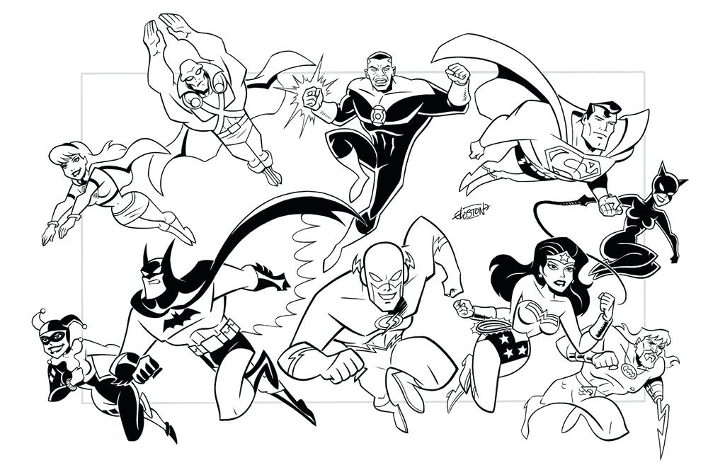 Justice League Unlimited Coloring Pages at GetDrawings.com | Free ...