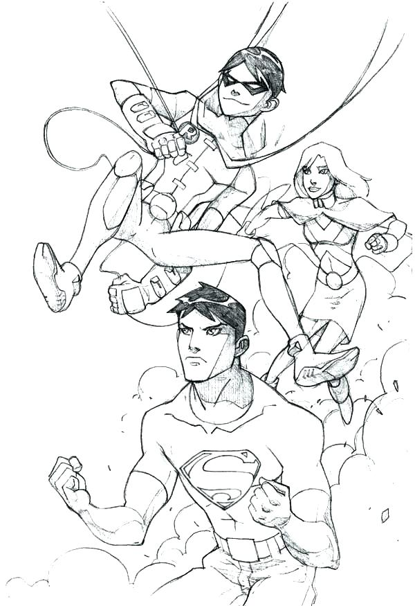 Justice League Unlimited Coloring Pages At Getdrawingscom Free