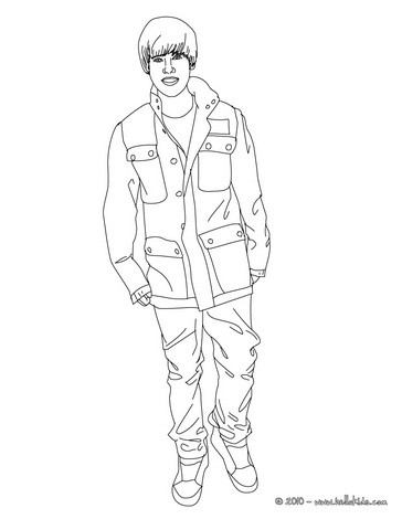 364x470 Justin Bieber Coloring Pages