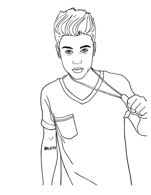 500x647 Justin Bieber Coloring Pages