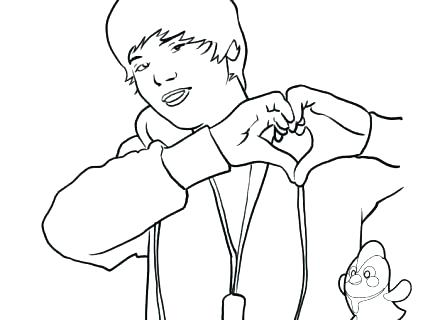 440x320 Justin Bieber Coloring Pages Coloring Pages Astounding Inspiration