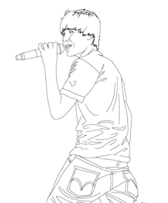 650x786 Justin Bieber Coloring Pages Singing Coloring Page Printable