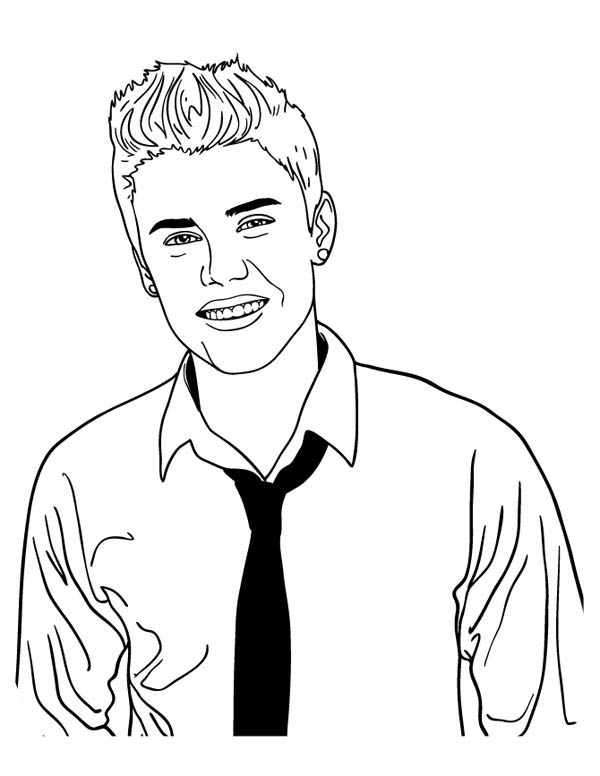 600x776 Justin Bieber Photoshoot Coloring Page