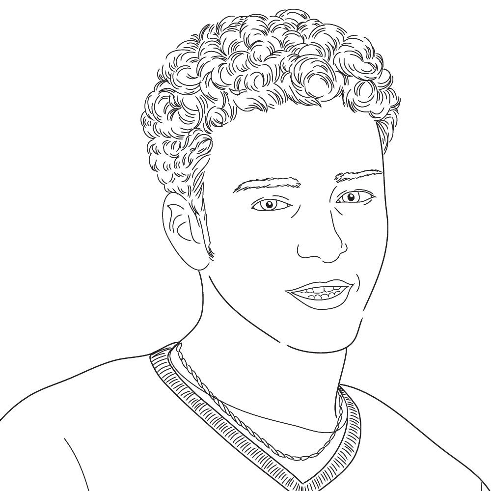 1000x1000 Justin Timberlake Coloring Page Coloring Pages For Adults