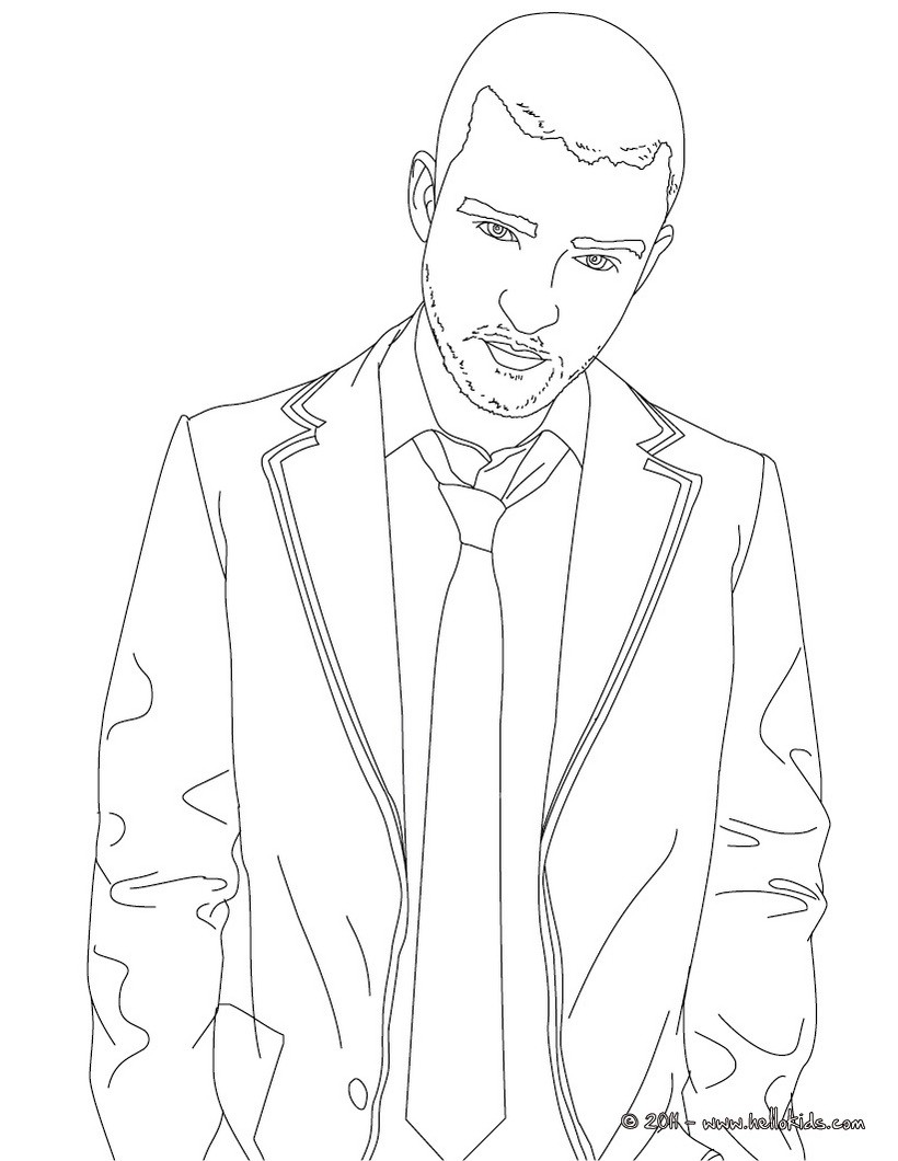 820x1060 Justin Timberlake Coloring Pages