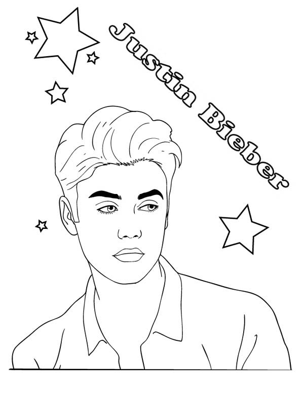 600x776 Astounding Justin Bieber Coloring Sheets Printable In Good Justin